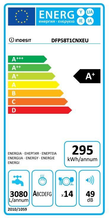 Indesit DFP 58T1 CNX EU zmywarka 60cm
