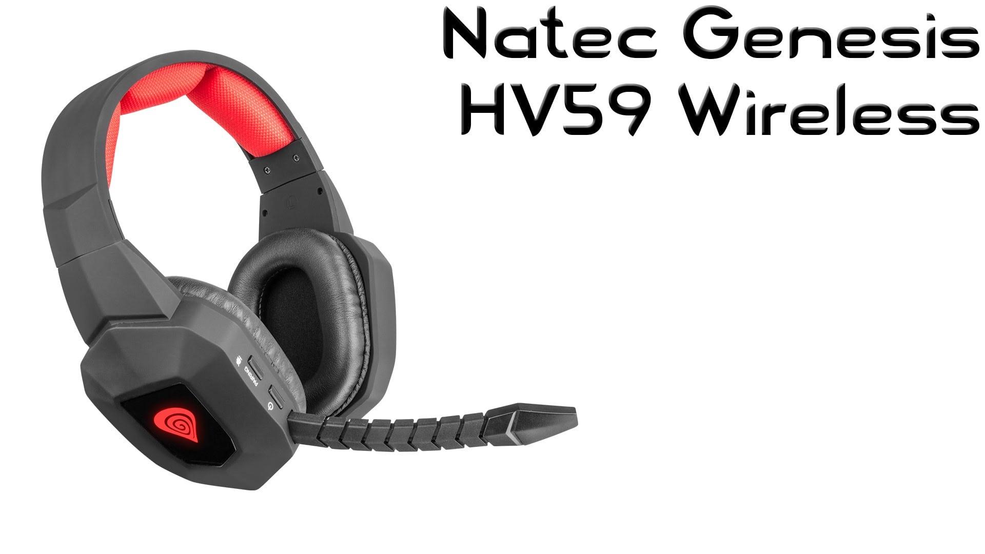 Natec Genesis HV59 Czarno-czerwony