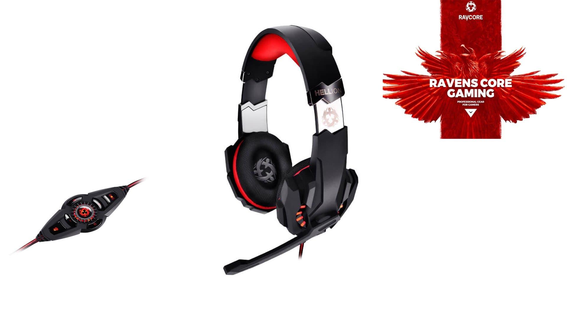 Ravcore Gaming 7.1 Hellion Czarno-czerwony