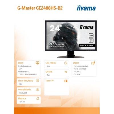IIYAMA G-MASTER BLACK HAWK GE2488HS