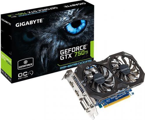 Gigabyte GeForce GTX 750 Ti (GV-N75TWF2OC-4GI)