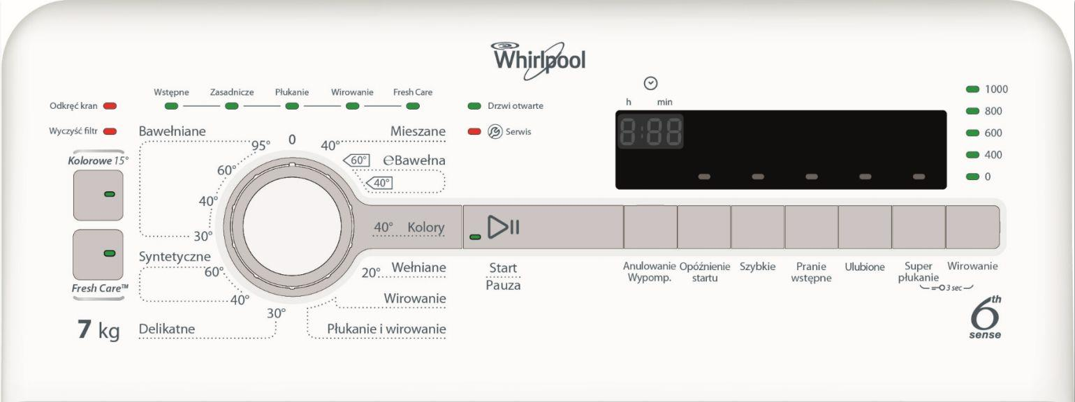 Whirlpool TDLR 70112
