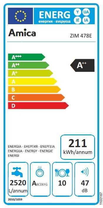 do zabudowy Amica Zim 478E A++ 45 cm Hit!